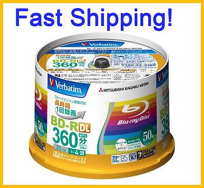50 Verbatim Bluray Disc 50GB BD-R 4x Speed Inkjet Printable ORIGINAL SPINDLE