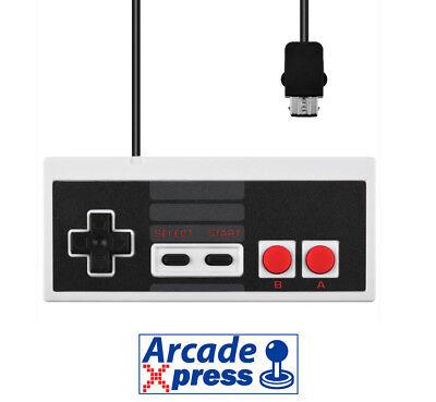 Mini Nes Classic Controller pad mando compatible Wii Nintendo Mini 1,8m cable