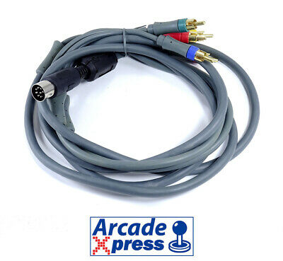 Cable 8 PIN DIN to RCA Component RGBs CSYNC Stéreo Neo Geo...