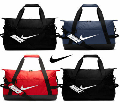 Nike Duffel Sports Bags Academy Team Duffle Travel Holdall Gym Bag Black Red