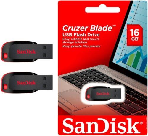 SanDisk 16GB x2= 32GB Cruzer Blade USB Flash Drive Thumb Pen