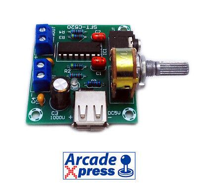 Amplificador de Sonido Arcade USB Audio Game Estéreo 5W 8 Ohm Board...
