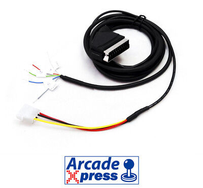Cable RGB to Scart 15khz Euroconector Jamma Arcade VGA Mame Mister FPGA