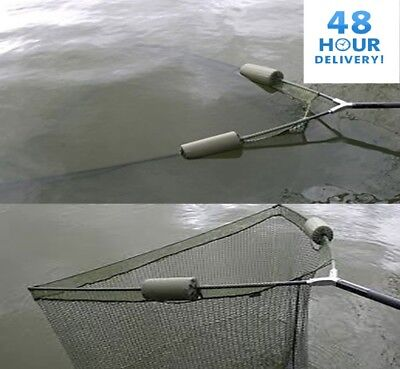 "42"" DUAL FLOAT LANDING NET & 2M TELESCOPIC HANDLE CARP COARSE PIKE NGT TACKLE"