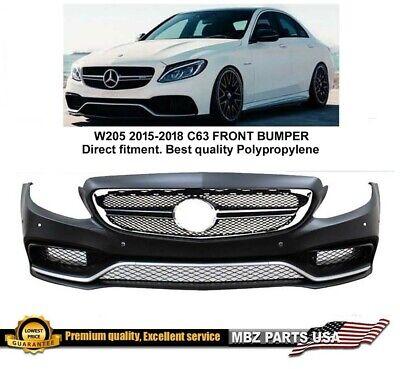 C63 Front bumper 2015 2016 2017 AMG grille body kit W205 C250 C300 C350 C-Class