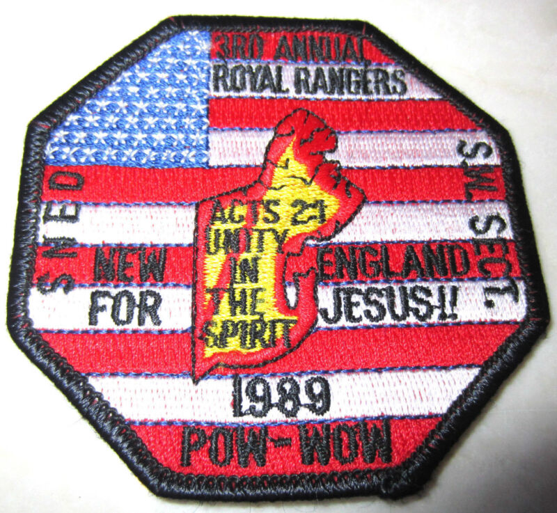 3Rd Annual New England For Jesus 1989 Pow Wow Rr Royal Ranger Uniform Patch
