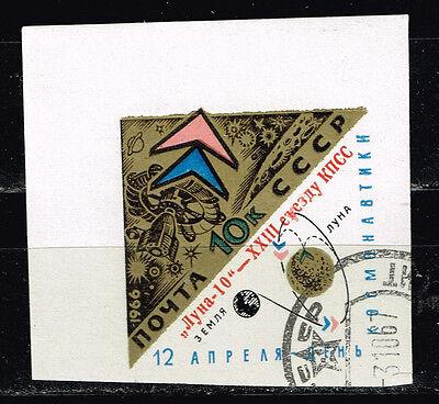 Russia Soviet Space Explorer Luna 10 stamp 1966 imperforated