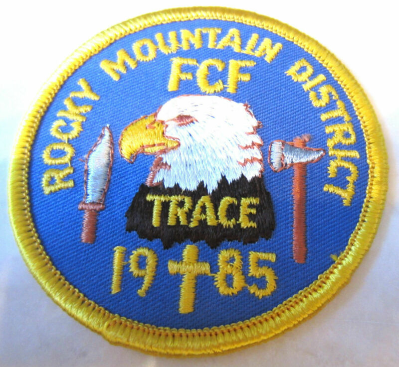 Rocky Mountain District Fcf Trace 1985 Rr Royal Ranger Uniform Patch