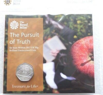 2017 Sir Isaac Newton 50p Fifty Pence Coin Pack Uncirculated