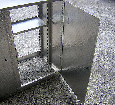 2-Aluminum Diamond Plate 6' Cabinet Base Storage Shop Race Car Enclosed Trailer