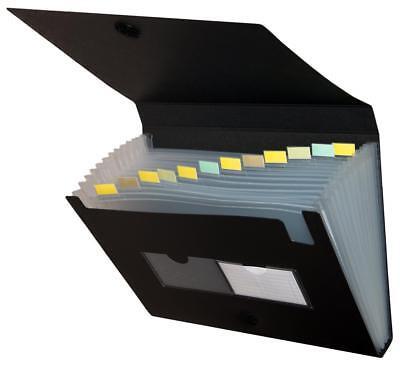 Herlitz Dokumentenmappe/ Fächermappe / A4 / mit 12 Einsteckfächern / schwarz