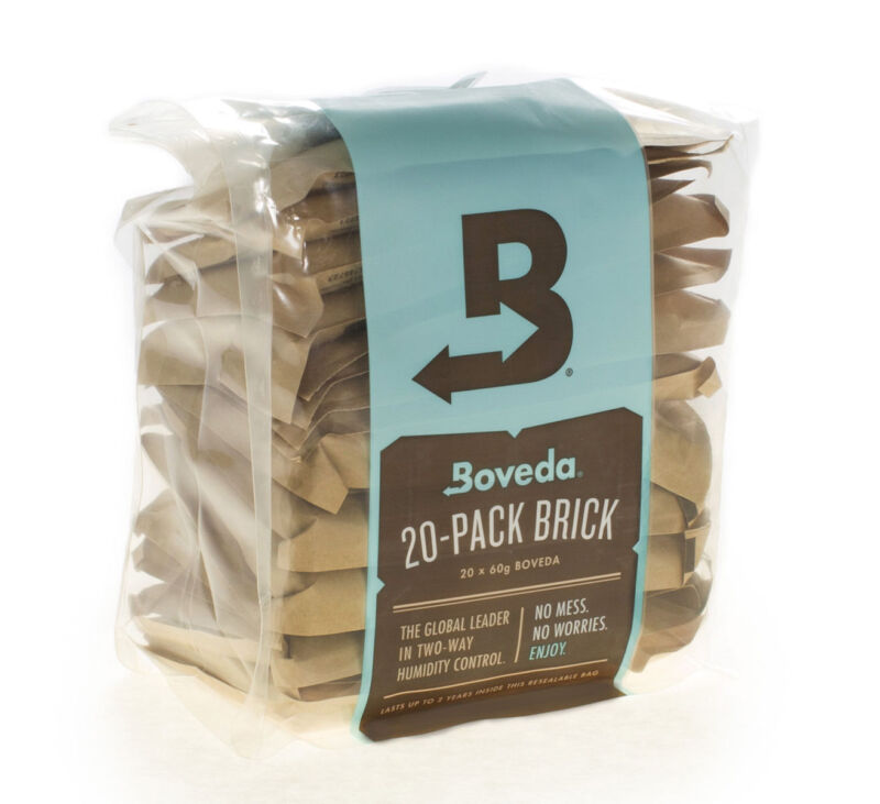 Boveda 62% RH 2-Way Humidity Control | Size 67 Protects Up to 1 Lb | 20-Count