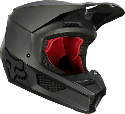 Fox Racing V1 Helmet Adult Matte Black MX Offroad ATV SXS Dirtbike MIPS