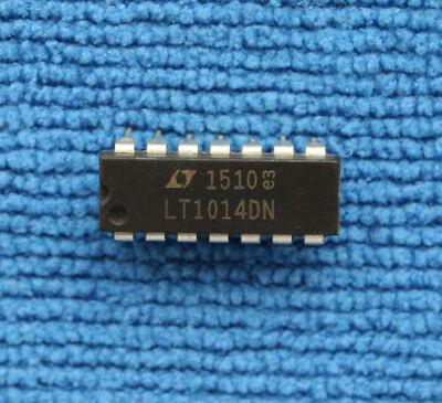 10pcs Lt1014dn Quad Precision Operational Amplifiers Dip-14