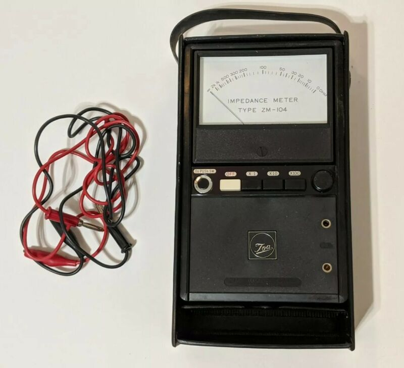 TOA Speaker Impedance Meter Tester Type ZM-104 with Cables Genuine US Seller