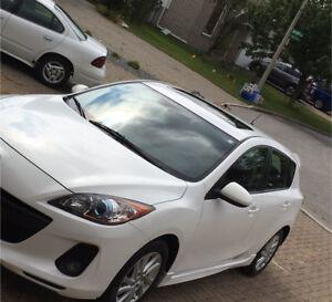 Mazda 3 sport 2012 hatchback white at 95000 km