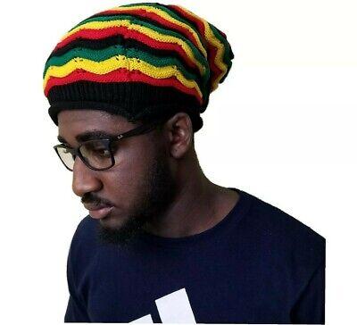 Rasta Dreads Hat (Beret Tam Hat Rasta Bob Marley Beanie Jamaica Cap Dreadlocks Dreads Hair)