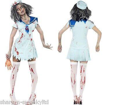 trose Blutig Leichnam Halloween Kostüm 8-18 (Zombie-matrose Kostüm)