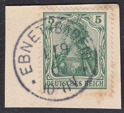 Baden Ebnet Einkreisstempel auf Deutsches Reich MiNr. 70