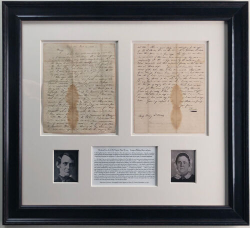 Abraham Lincoln Autograph Letter Signed to his Fiancée Mary Owens