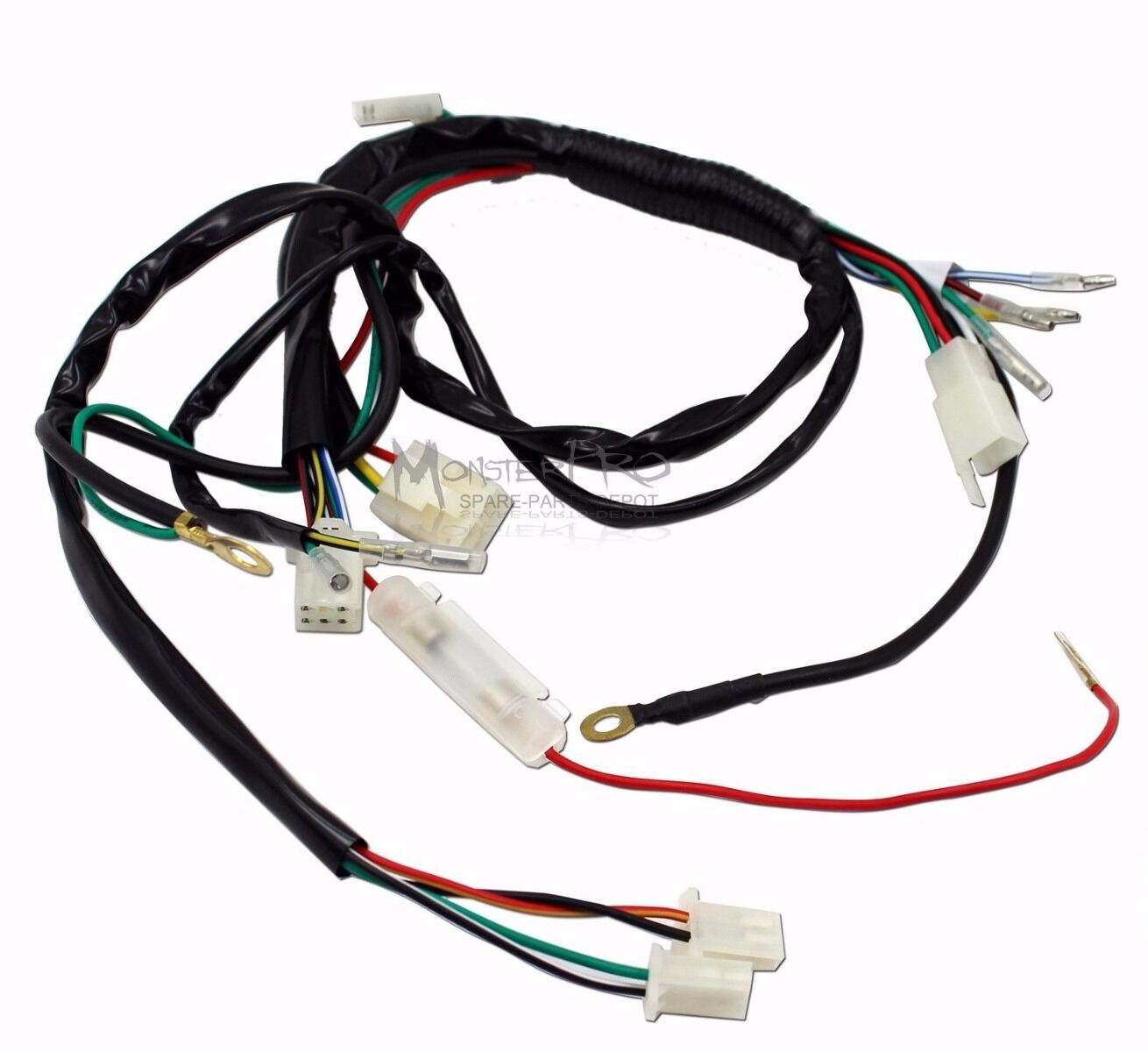 Full WIRE LOOM WIRING HARNESS 150cc 200cc 250cc 300cc ATV