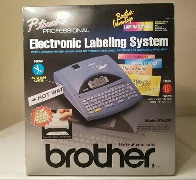 New Brother Pt-530 Professional Electronic Labeling System 1997