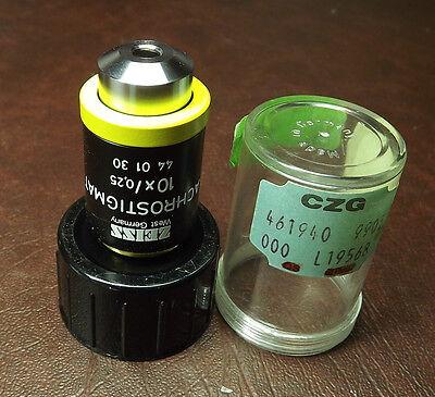 Zeiss Achrostigmat Microscope Objective Axiovert Series 10x Lens