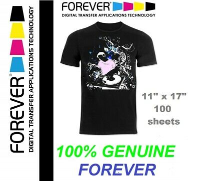 Forever Laser Dark No-cut Ab Heat Transfer Paper 11 X 17 100 Sheets Genuine