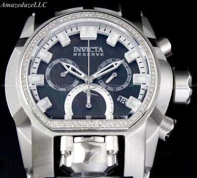 Invicta Men RESERVE Bolt Zeus Magnum Chronograph 52mm SS 0.43CTW DIAMOND Watch!!