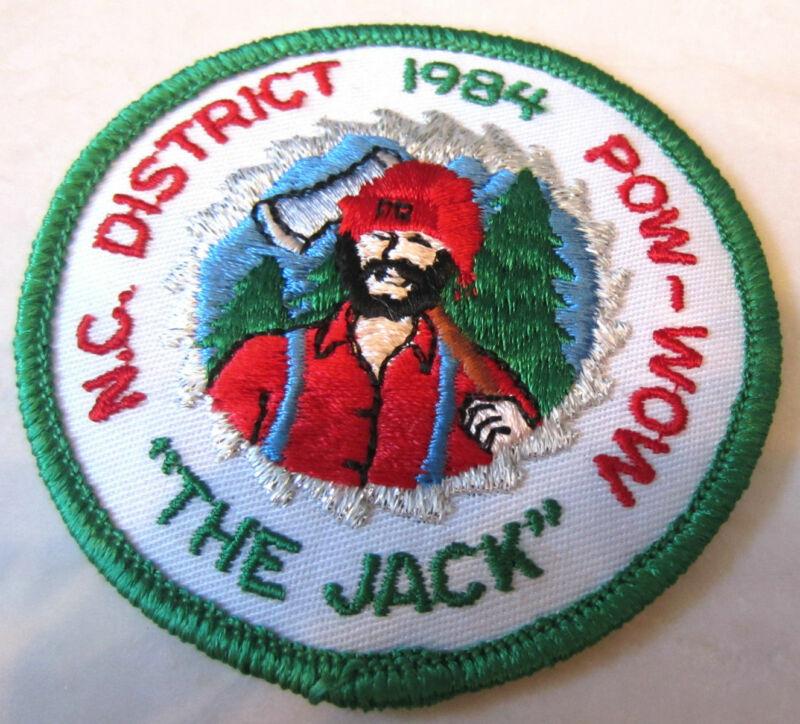 """1984 """"The Jack"""" N.C.District Pow-Wow Rr Royal Ranger Uniform Patch"""