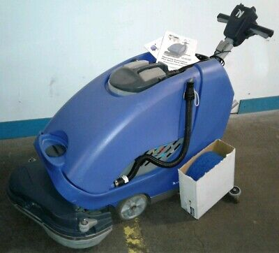 Numatic Ttb-6652200t. Commercial Battery Operated Walk Behind Floor Scrubber