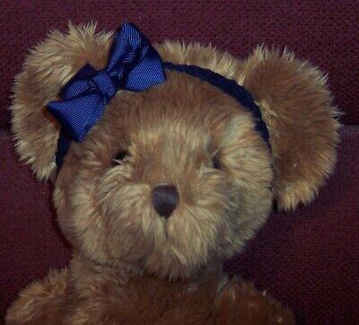 Russ Berrie 19 Brown Teddy Bear Plush Stuffed Lovey Toy Pellet Weighted Feet  - $19.99