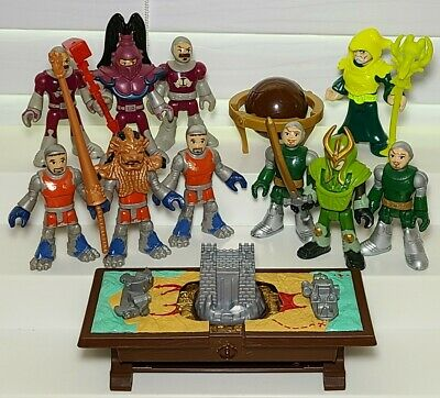 LOT Of Imaginext Knights Medieval Figures Fisher Price Map Table Wizard