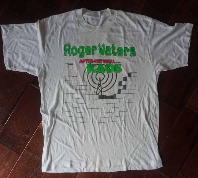 Vtg Original Roger Waters 1987 Radio KAOS Shirt Large pink floyd the wall