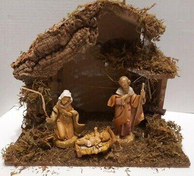 "Fontanini (1991)The Holy Family 3 Piece 5"" Heirloom Nativity Set by Roman 71503"