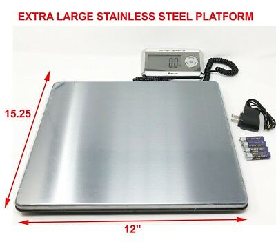 Large Heavy Duty Digital Shipping Postal Parcel Scale 440 Lbs Stainless Steel