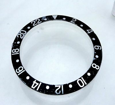 Rare Faded Rolex GMT Master 2 Black & Steel 16710 16700  Watch Bezel Insert Part