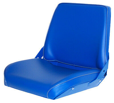 Ford New Holland Blue Vinyl Seat Fits 231 334 515 1200 4000 4100 6000 6410 Etc