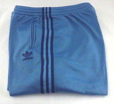 ADIDAS Track Pants Blue Fleece Lined Retro 2004 Emb Trefoil 631502 Men's XL RARE