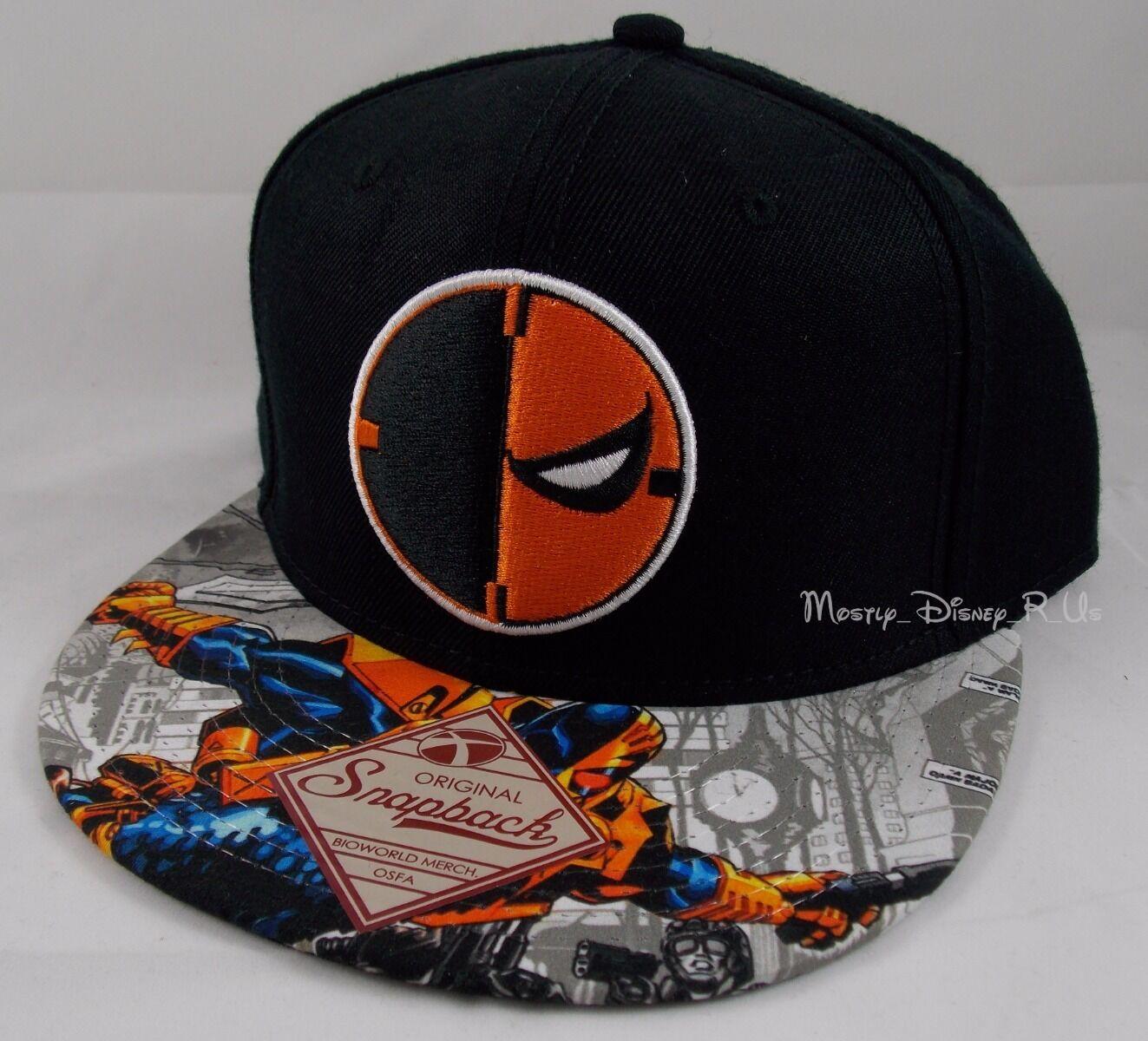 best deals on 7ad94 b2ce1 New DC Comics Deathstroke Logo Snapback Hat Ball Cap Sublimated Print Bill  фото