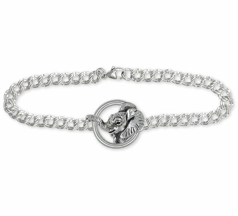Elephant Jewelry Sterling Silver Elephant Bracelet Handmade Wildlife Jewelry EL2