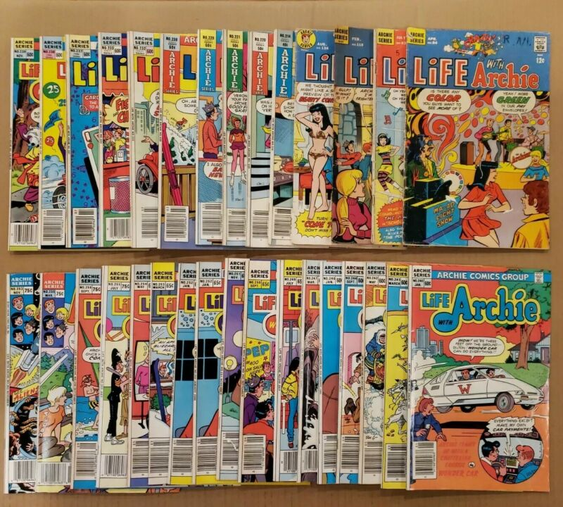 Life with Archie #84-263 Lot of 31 Silver, Bronze, Copper Age comics FN/VF avg