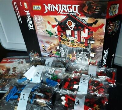 LEGO Ninjago Temple of Resurrection Set 70643 Oni Masks, Open Box, Sealed Bags