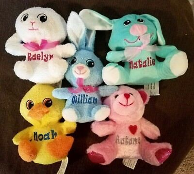 ***Personalized Stuffed Plush Animals!! Valentines Day, Easter, Birthday & more - Valentine Animals