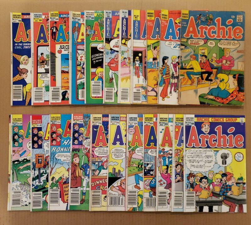 Archie #182-392 Lot of 22 Silver, Bronze, Copper Age comics FN/VF avg