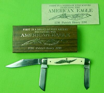 Vintage American Eagle Schrade Walden Cut E1 Limited 3 Blade Folding Knife