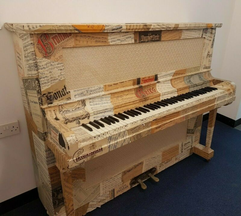Honky Tonk Modified Upright Piano Decorated and a Unique Character Piece