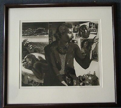 """ORIGINAL DAVID BUMBECK ETCHING/AUQATINT  """"GAUGUIN"""" 73/100 SIGNED AND DATED 1983"""