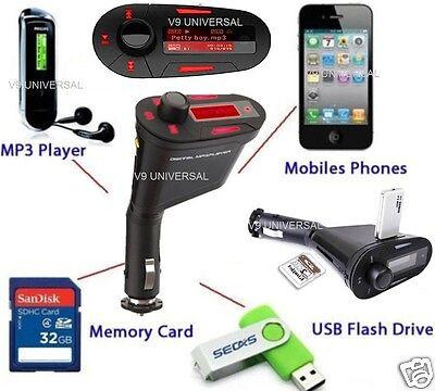 Wireless In Car FM Radio Transmitter USB SD Card Slot Music MP3 Player + Remote