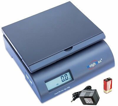 WeighMax 2822-75-Gray Digital Shipping Postal Scale with Batteries and AC adapte